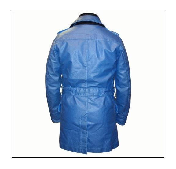 Stone Island Stone Island Blue Waxed Ice Jacket