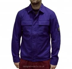 C.P Company CP Company Blue Overshirt With Arm Lens