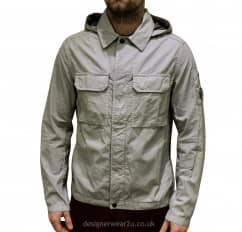 C.P Company CP Company Grey Lightweight Overshirt Style Jacket With Arm Lens
