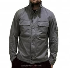 C.P Company CP Company Grey Overshirt With Arm Lens
