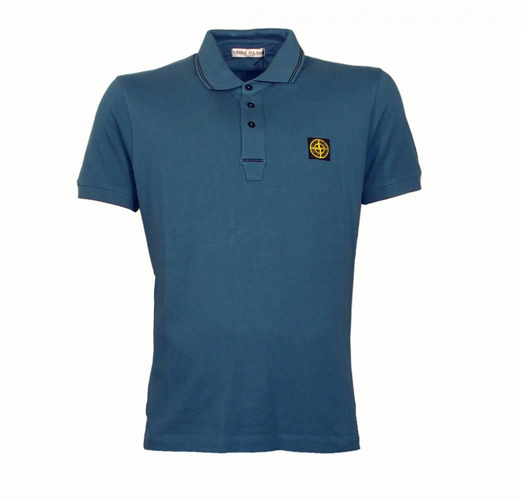stone island blue polo shirt polo shirts from designerwear2u uk. Black Bedroom Furniture Sets. Home Design Ideas