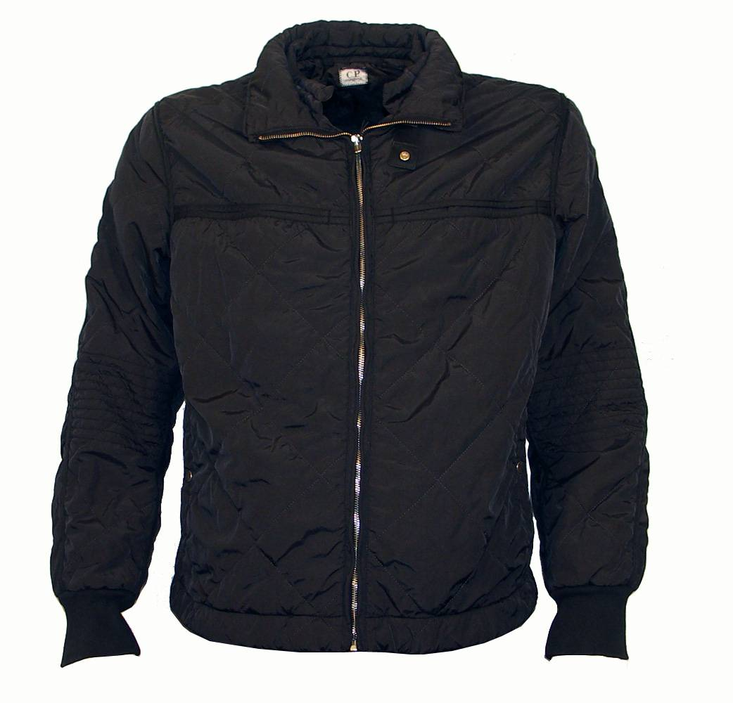 CP Company Black Quilted Winter Jacket - Jackets from