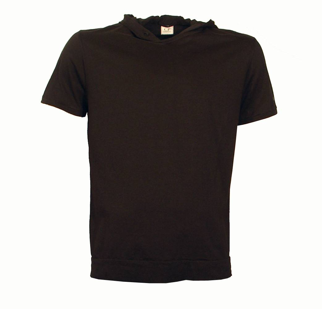 Cp Company Black Hooded T Shirt T Shirts From