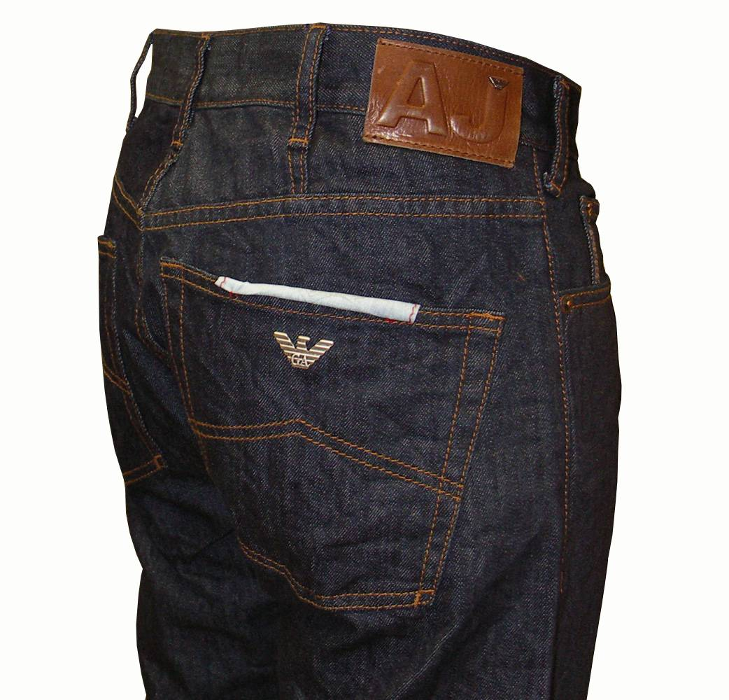 Armani Jeans Dark Wash Straight Leg Denim J311L