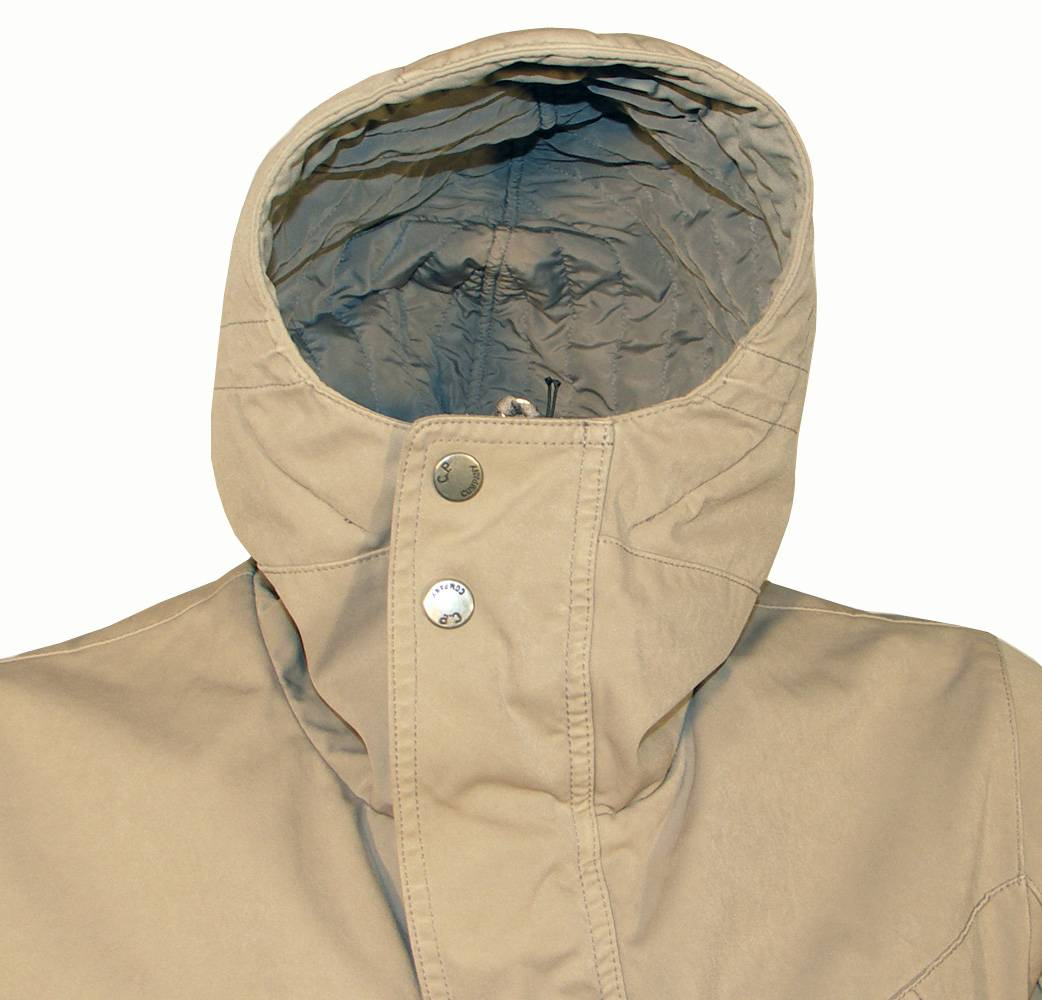 CP Company Beige Hooded Winter Jacket - Jackets from