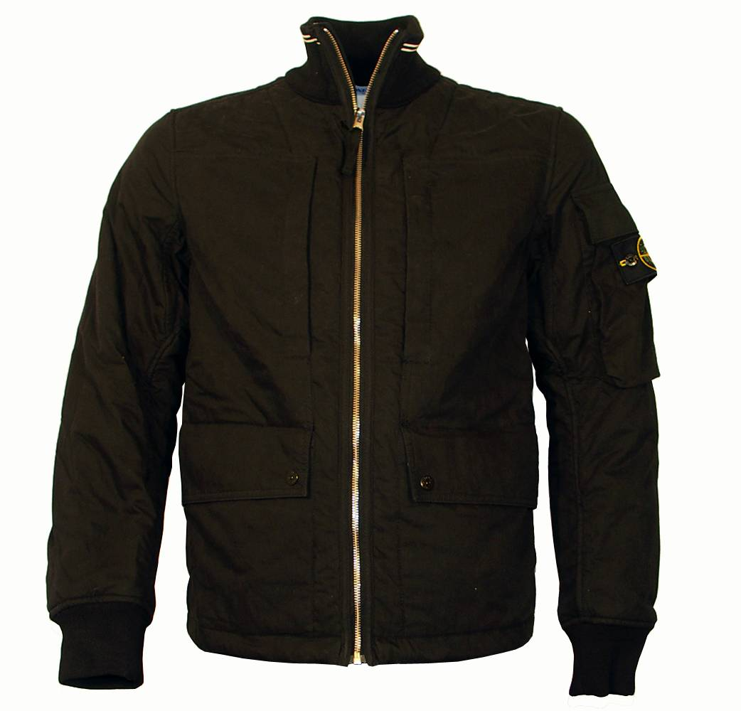 Stone Island Black Padded Bomber Jacket Jackets From