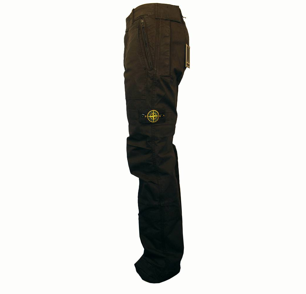 Stone Island Black Combat Trousers Jeans From