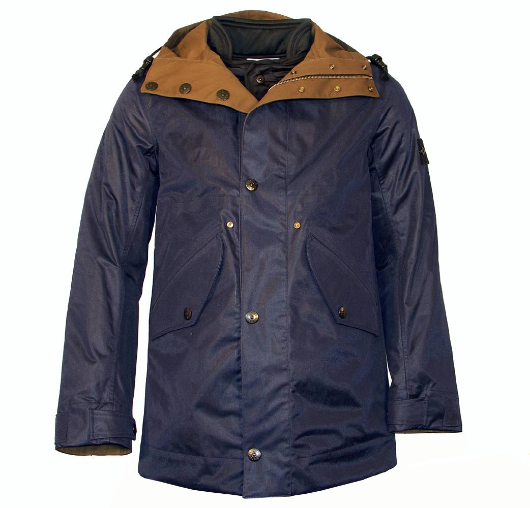 stone island reversible navy hooded jacket jackets from. Black Bedroom Furniture Sets. Home Design Ideas