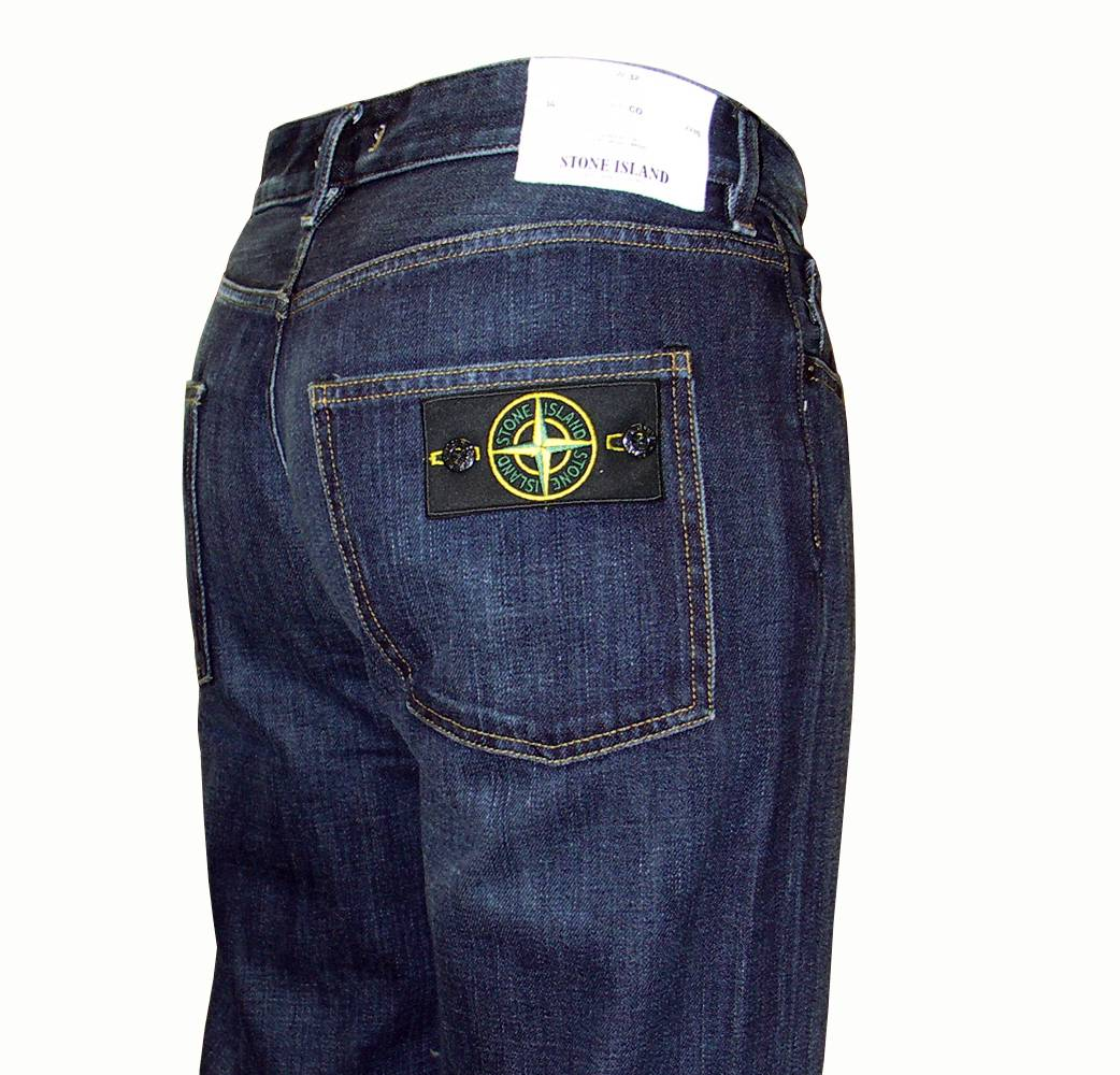 stone island vintage wash jeans with badge jeans from. Black Bedroom Furniture Sets. Home Design Ideas