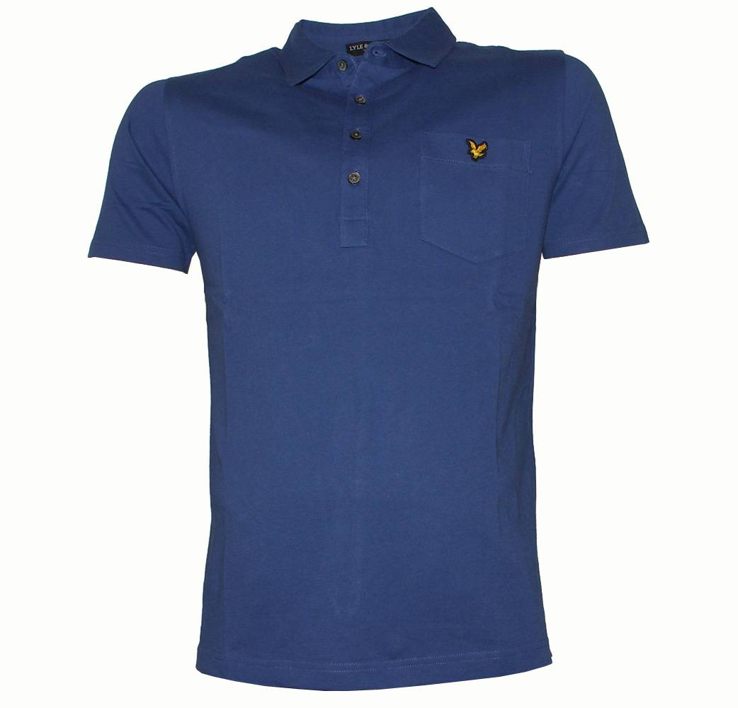 Lyle And Scott Royal Blue Tailor Collar Polo Shirt Polo