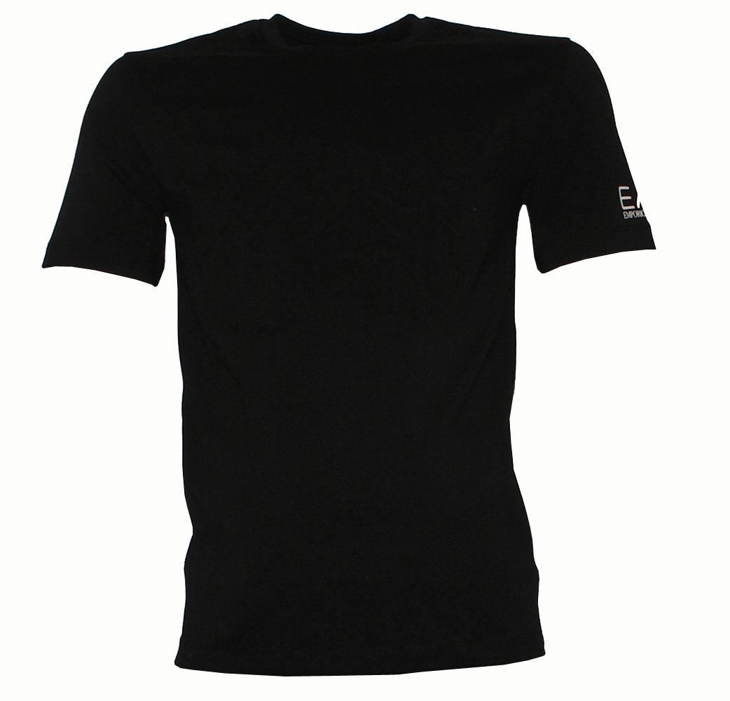 Emporio armani ea7 black crewneck t shirt t shirts from for Black armani t shirt