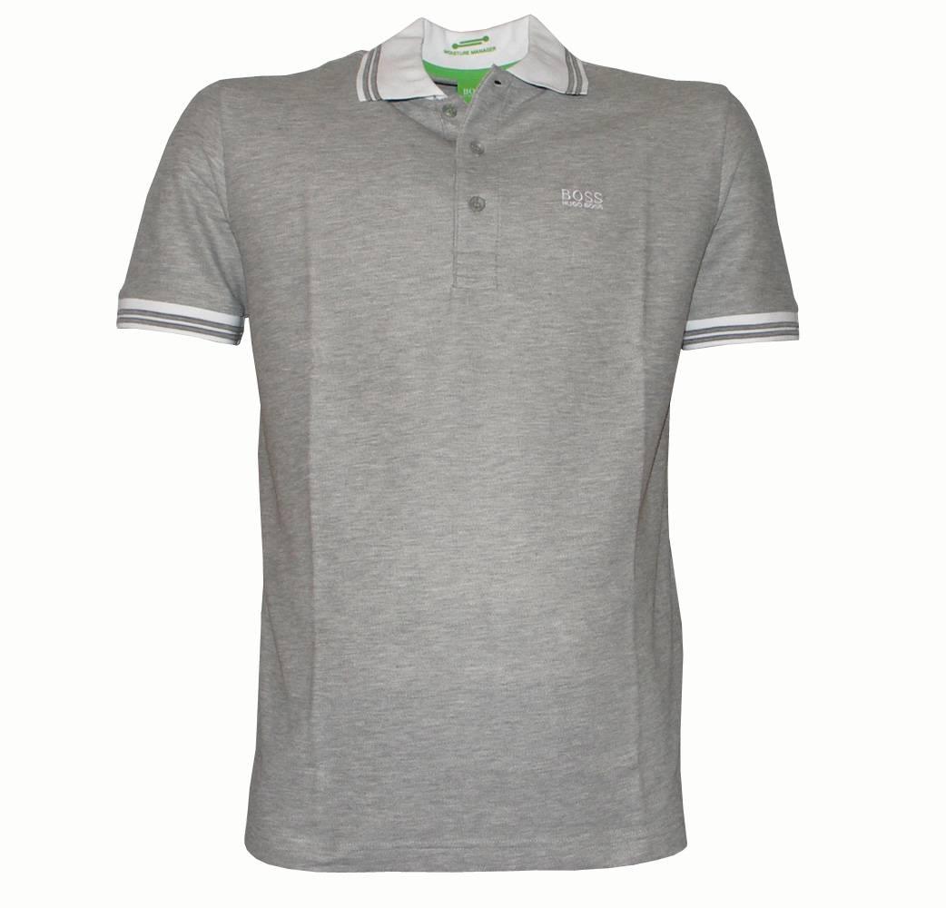Hugo Boss Patrick 1 Grey Polo Shirt Polo Shirts From