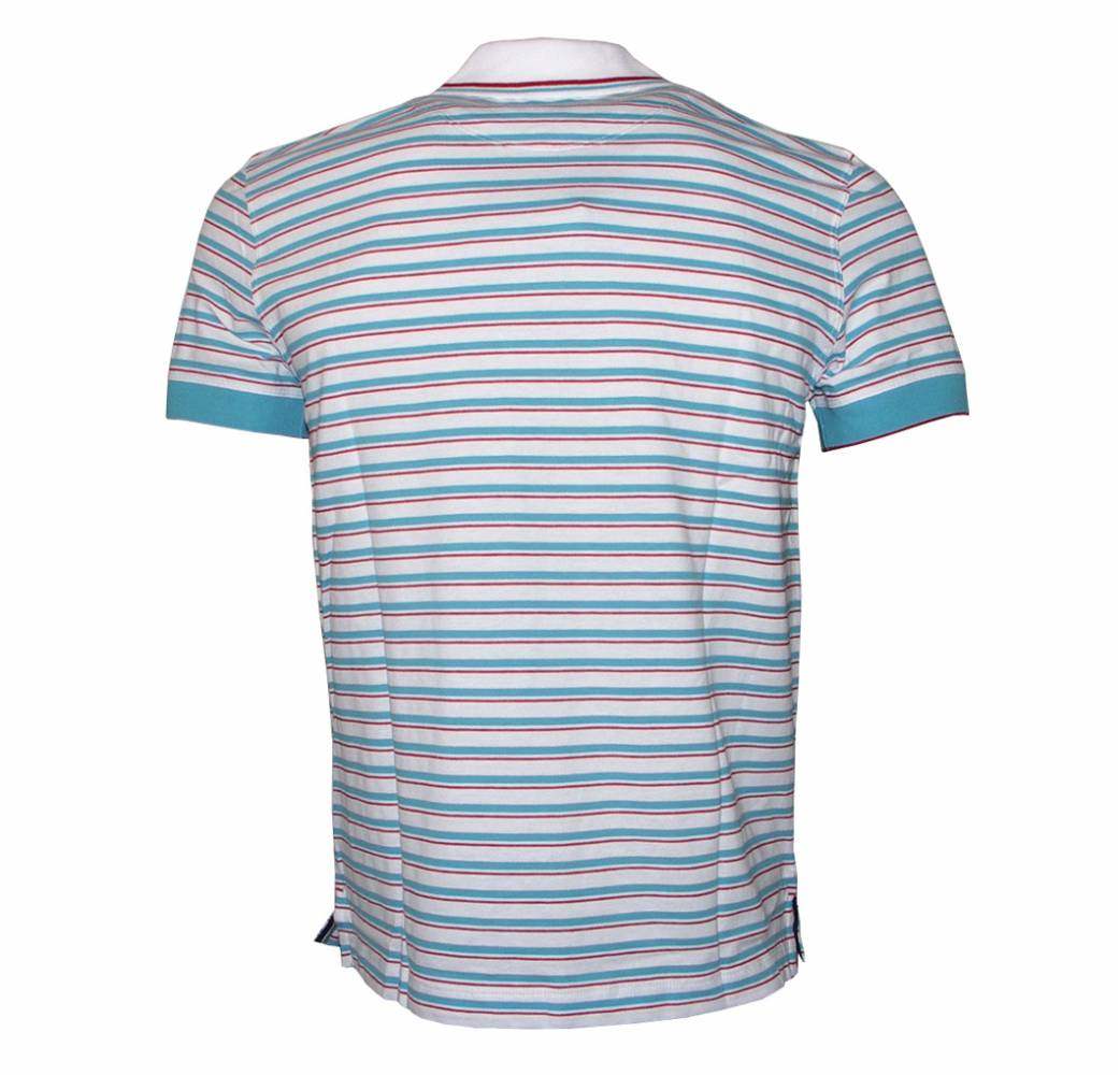 Hugo boss janis red and blue striped polo shirt polo for Red blue striped shirt