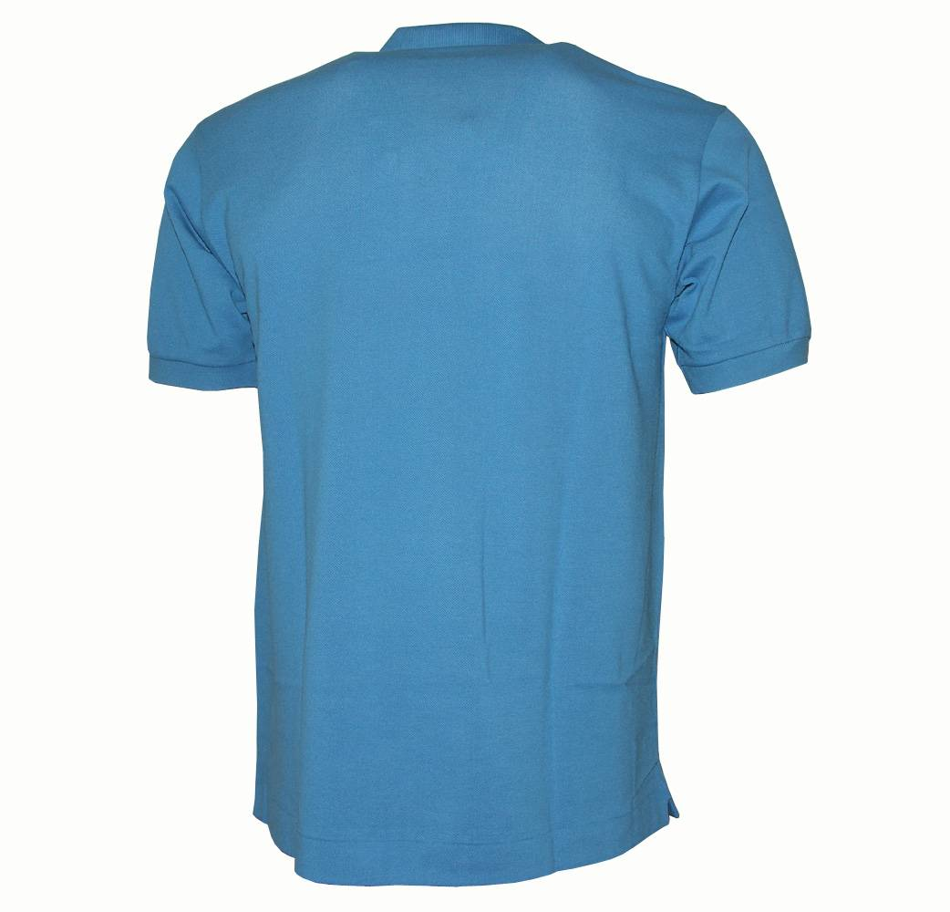 H & M - Piqué Polo Shirt - Turquoise. Sale $ Orig $ Short-sleeved shirt in cotton piqué with a ribbed collar. Button placket, small embroidered detail at front, and short slits at sides.