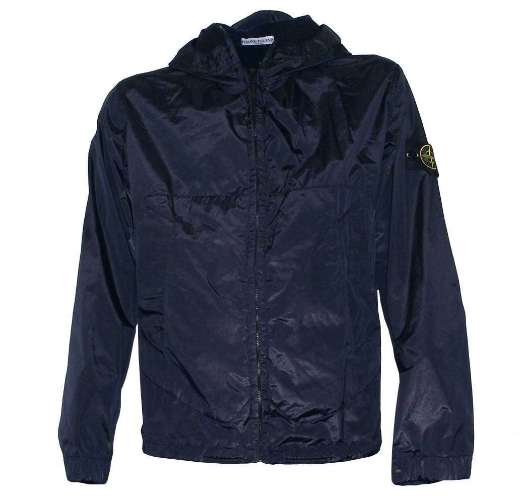 stone island navy hooded shimmer jacket jackets from designerwear2u uk. Black Bedroom Furniture Sets. Home Design Ideas