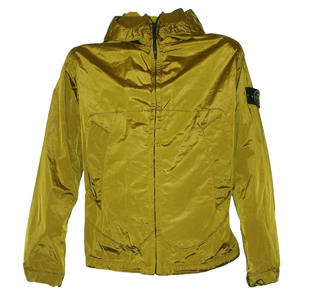 stone island mustard hooded shimmer jacket jackets from. Black Bedroom Furniture Sets. Home Design Ideas