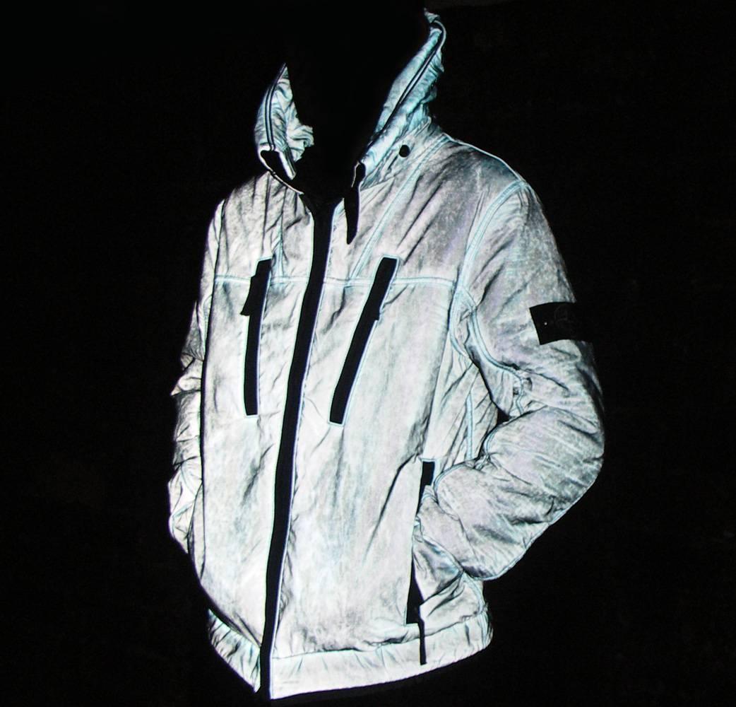 Stone Island Grey Liquid Reflective Jacket Jackets From