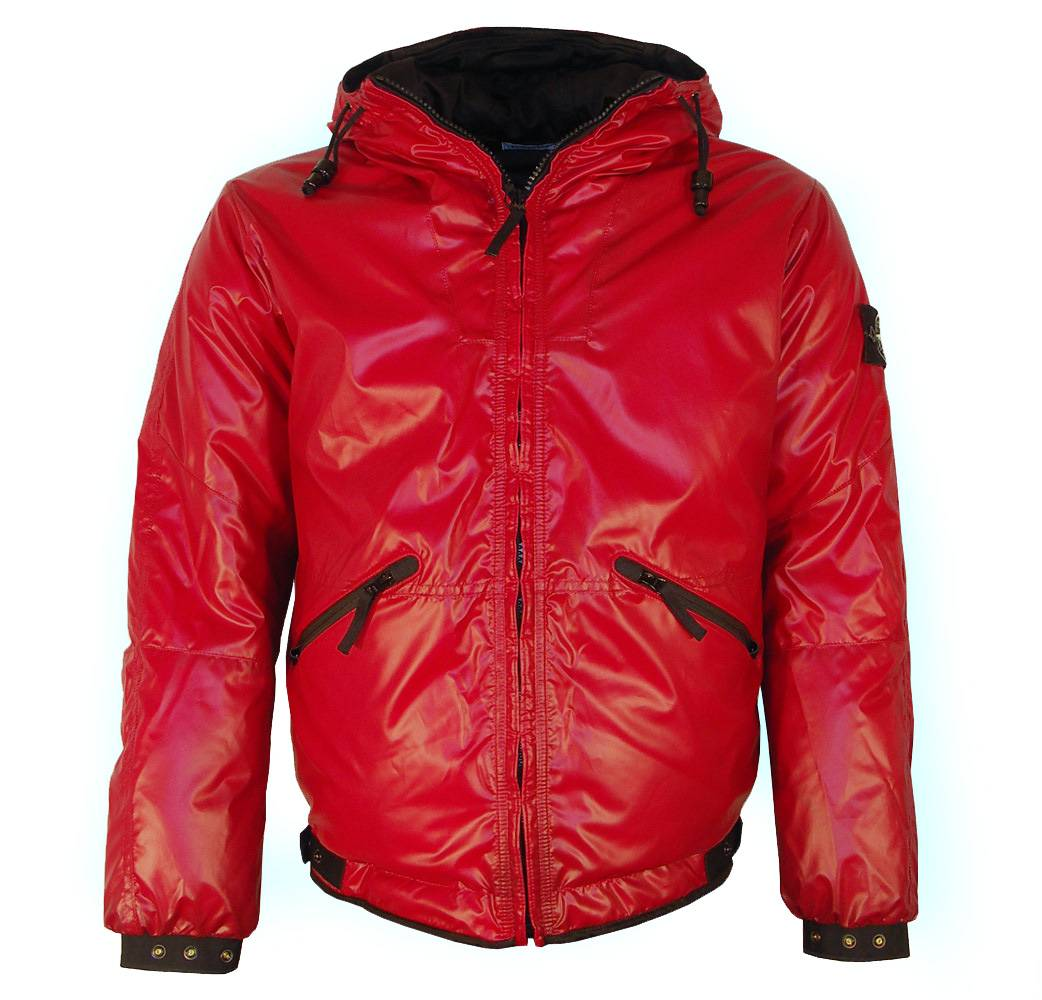 stone island red hooded ice jacket jackets from designerwear2u uk. Black Bedroom Furniture Sets. Home Design Ideas