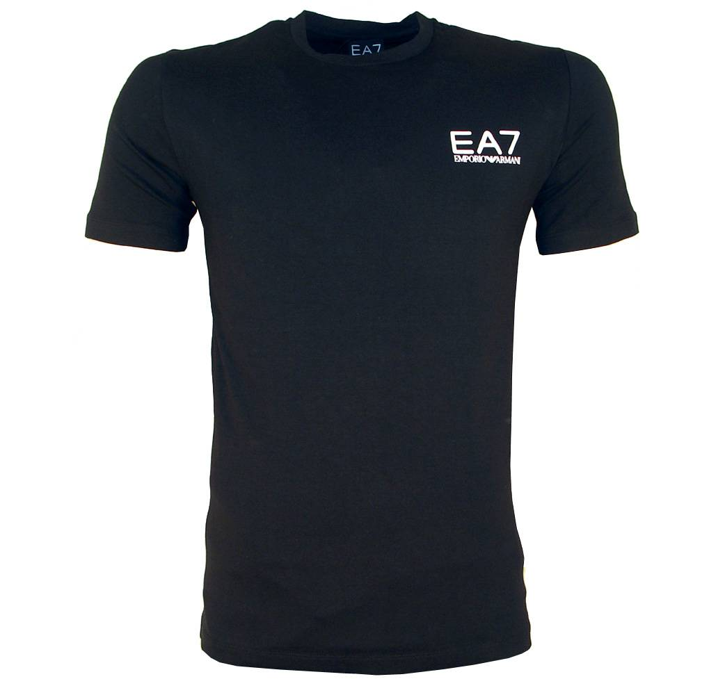 Ea7 Black Crewneck T Shirt With Small Logo T Shirts From