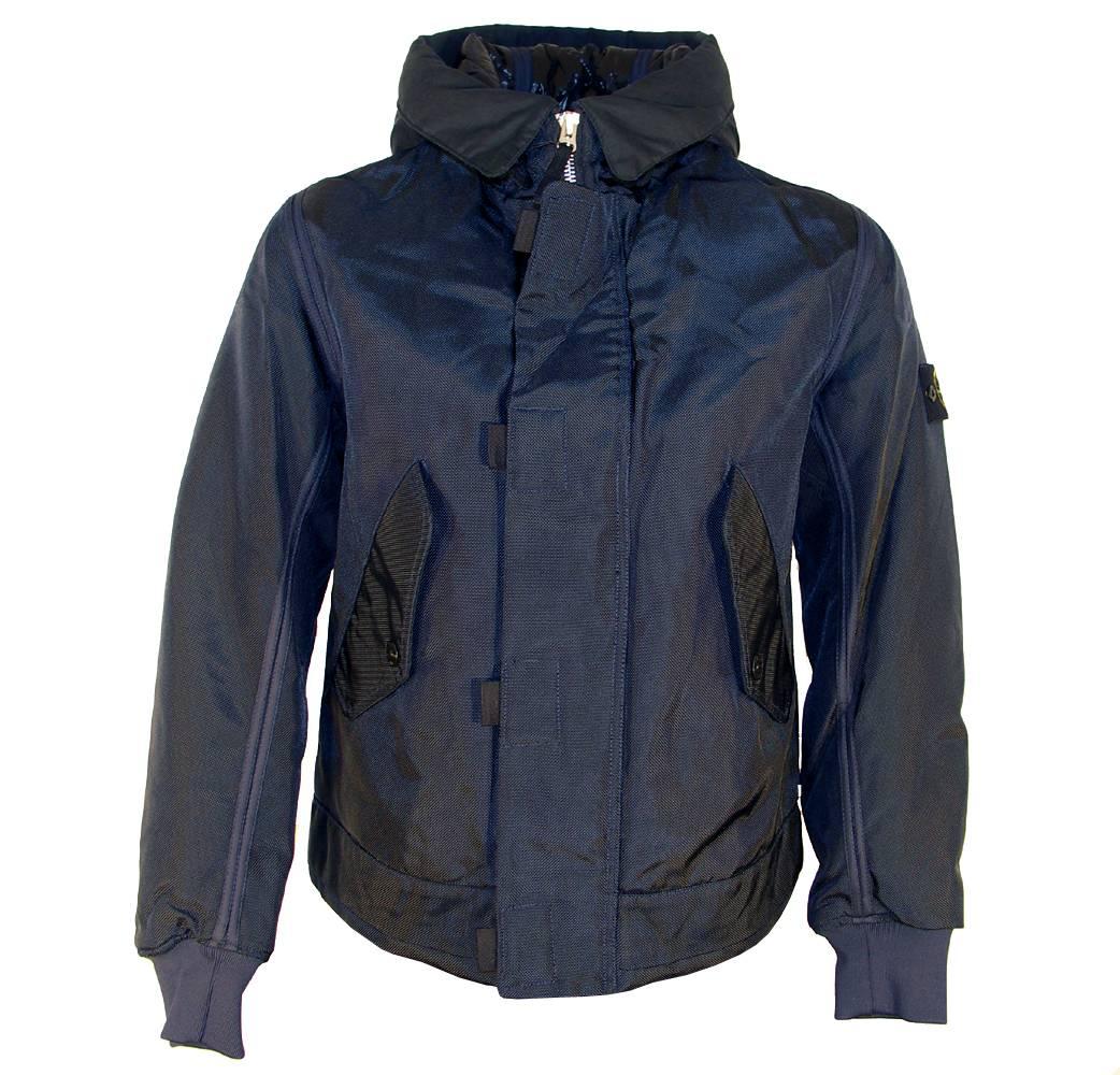 S.Island Stone Island Navy Oxford Hooded Jacket