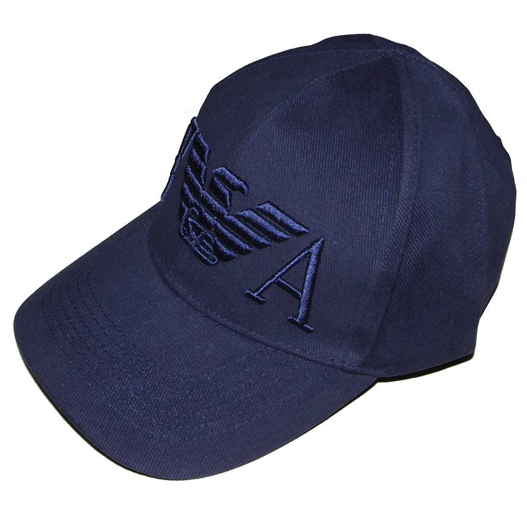 Home › Hats › Emporio Armani Navy cap with large 3D Logo