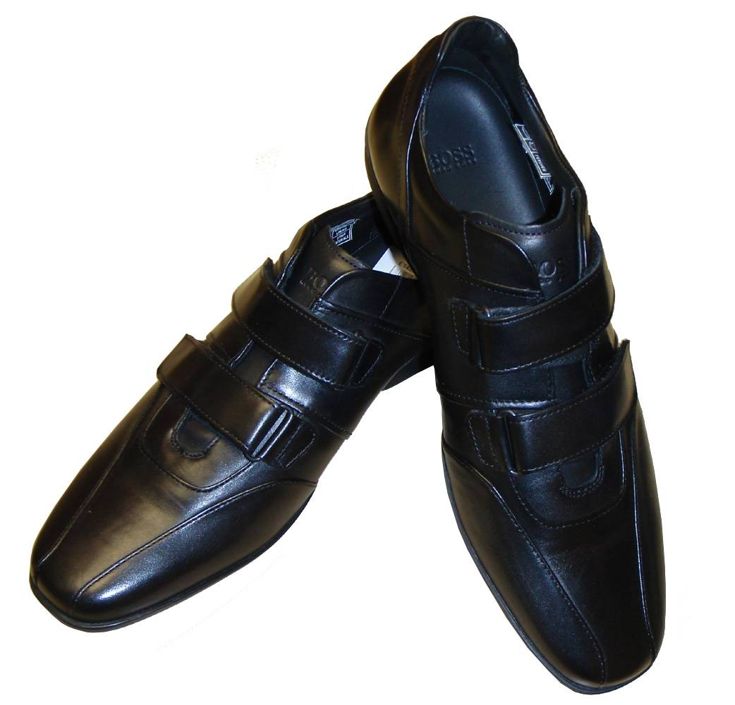 hugo boss black leather velcro shoe footwear from. Black Bedroom Furniture Sets. Home Design Ideas