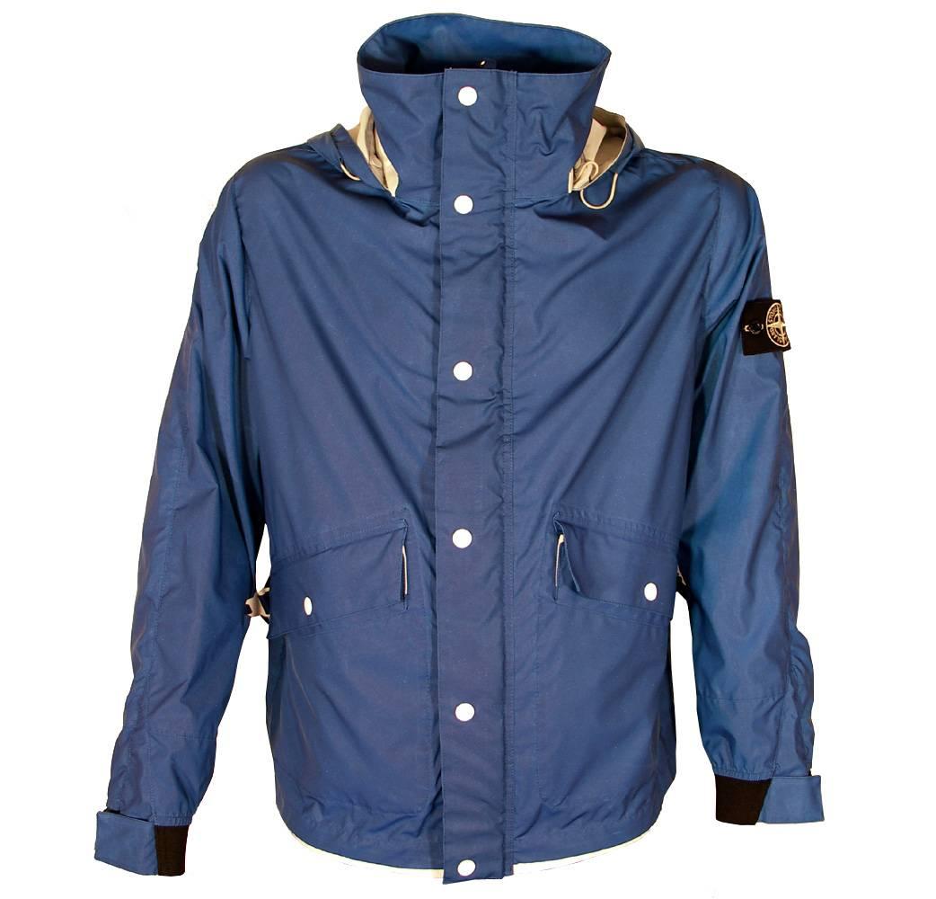 stone island blue reflective jacket jackets from. Black Bedroom Furniture Sets. Home Design Ideas