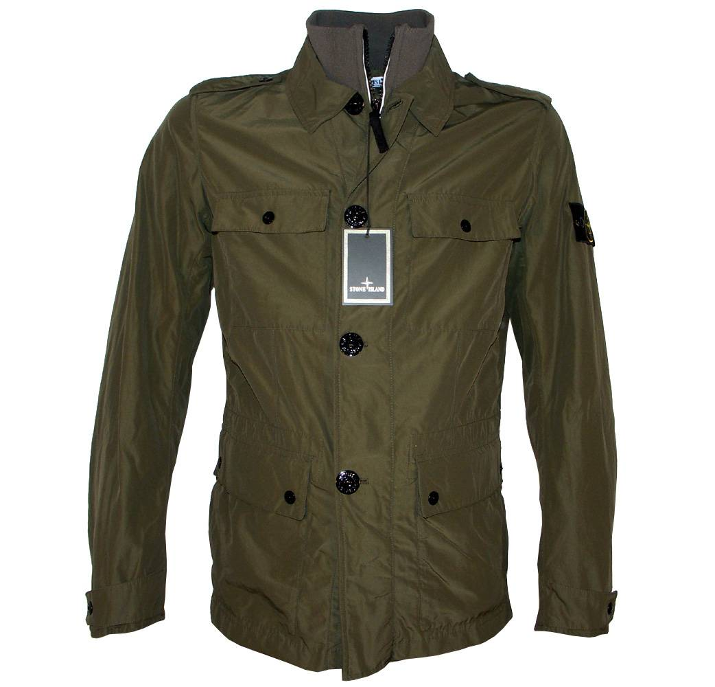 stone island olive green field jacket jackets from. Black Bedroom Furniture Sets. Home Design Ideas
