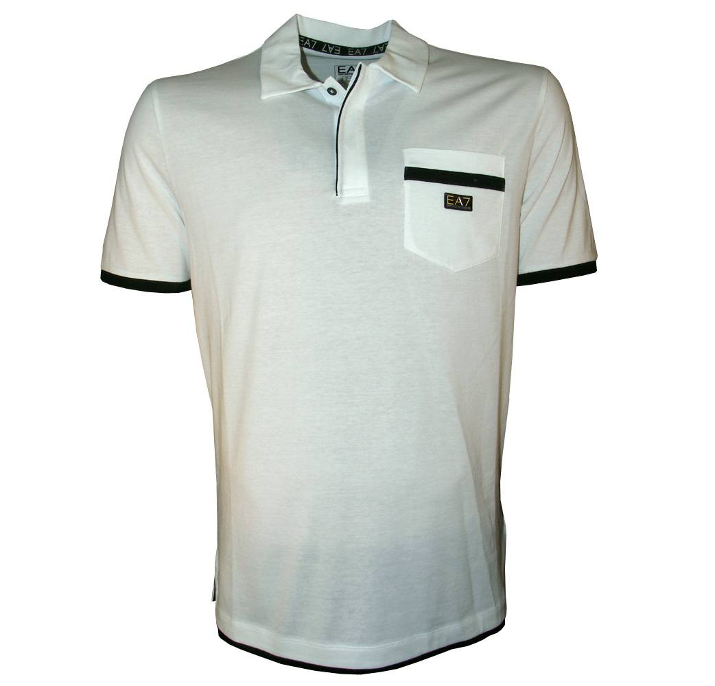Emporio Armani EA7 White Polo Shirt With Pocket - Polo ...