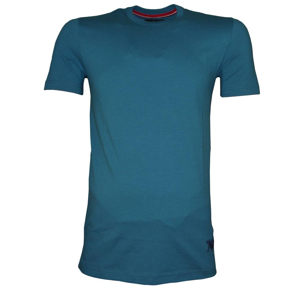 Armani jeans turquoise t shirt with embroidered logo t for T shirt with embroidered logo