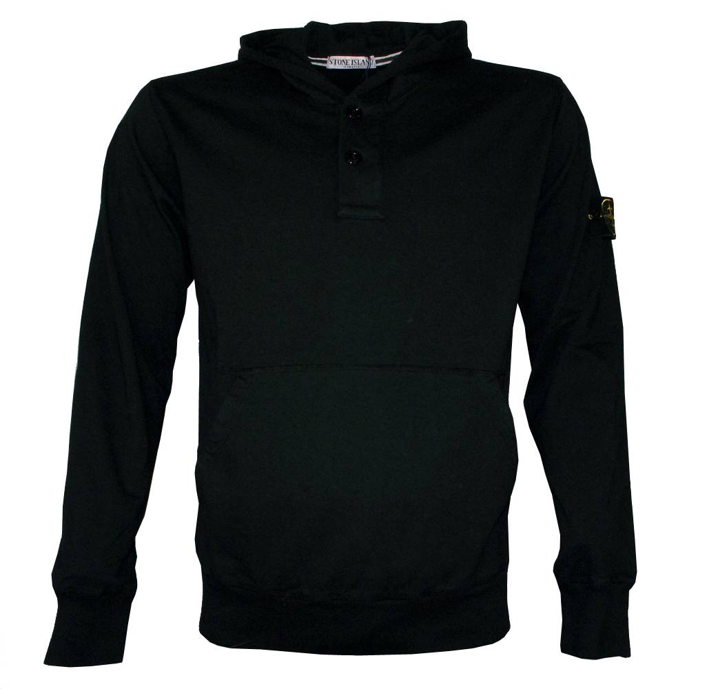 Stone Island Black Hooded Sweatshirt