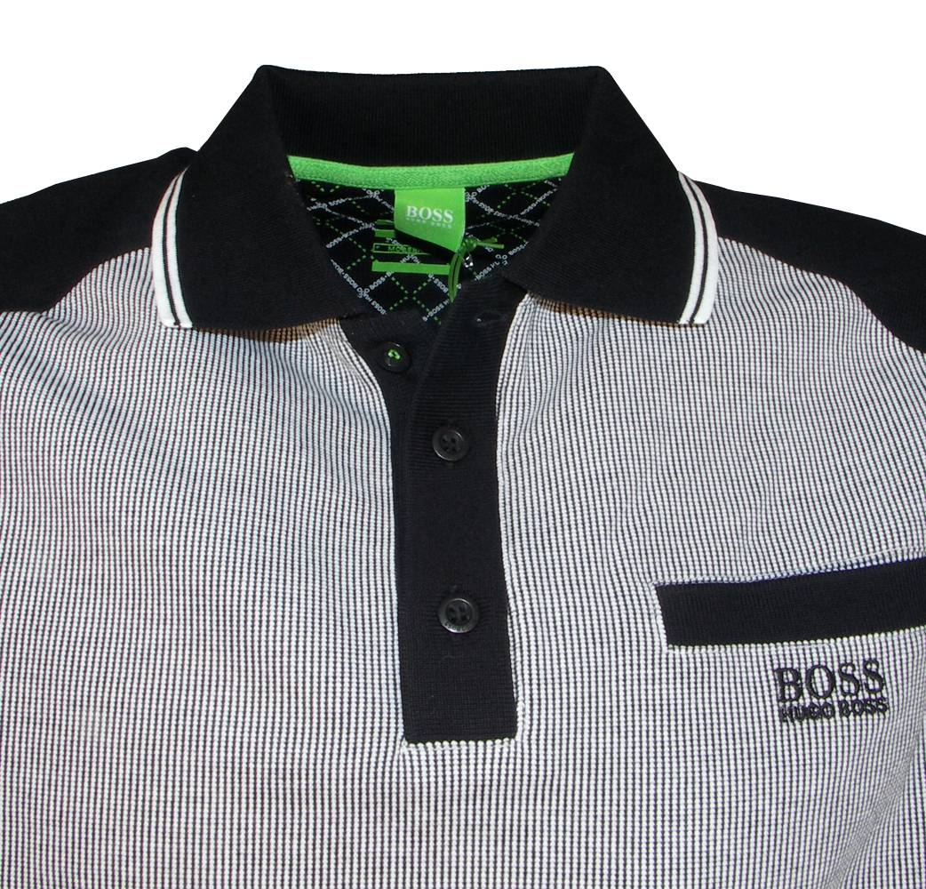 hugo boss green label black paulson polo shirt polo shirts from designerwear2u uk. Black Bedroom Furniture Sets. Home Design Ideas