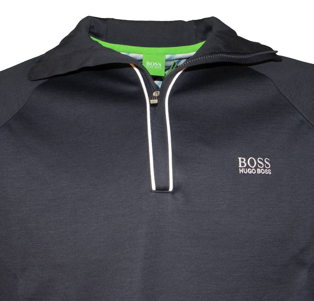 hugo boss green label navy half zipper sweat top sweatshirts from designerwear2u uk. Black Bedroom Furniture Sets. Home Design Ideas
