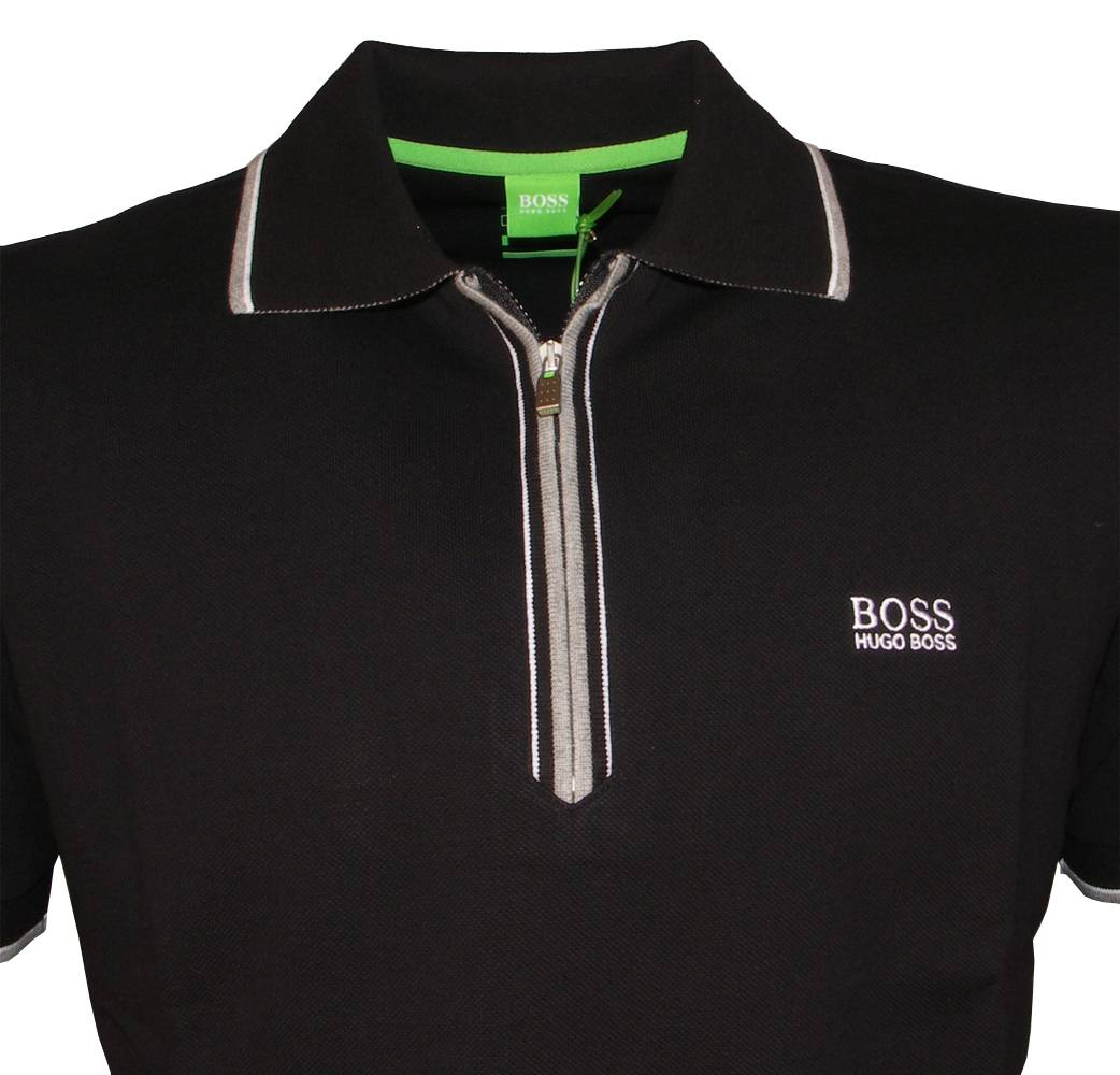 hugo boss green label black philson polo shirt polo shirts from designerwear2u uk. Black Bedroom Furniture Sets. Home Design Ideas