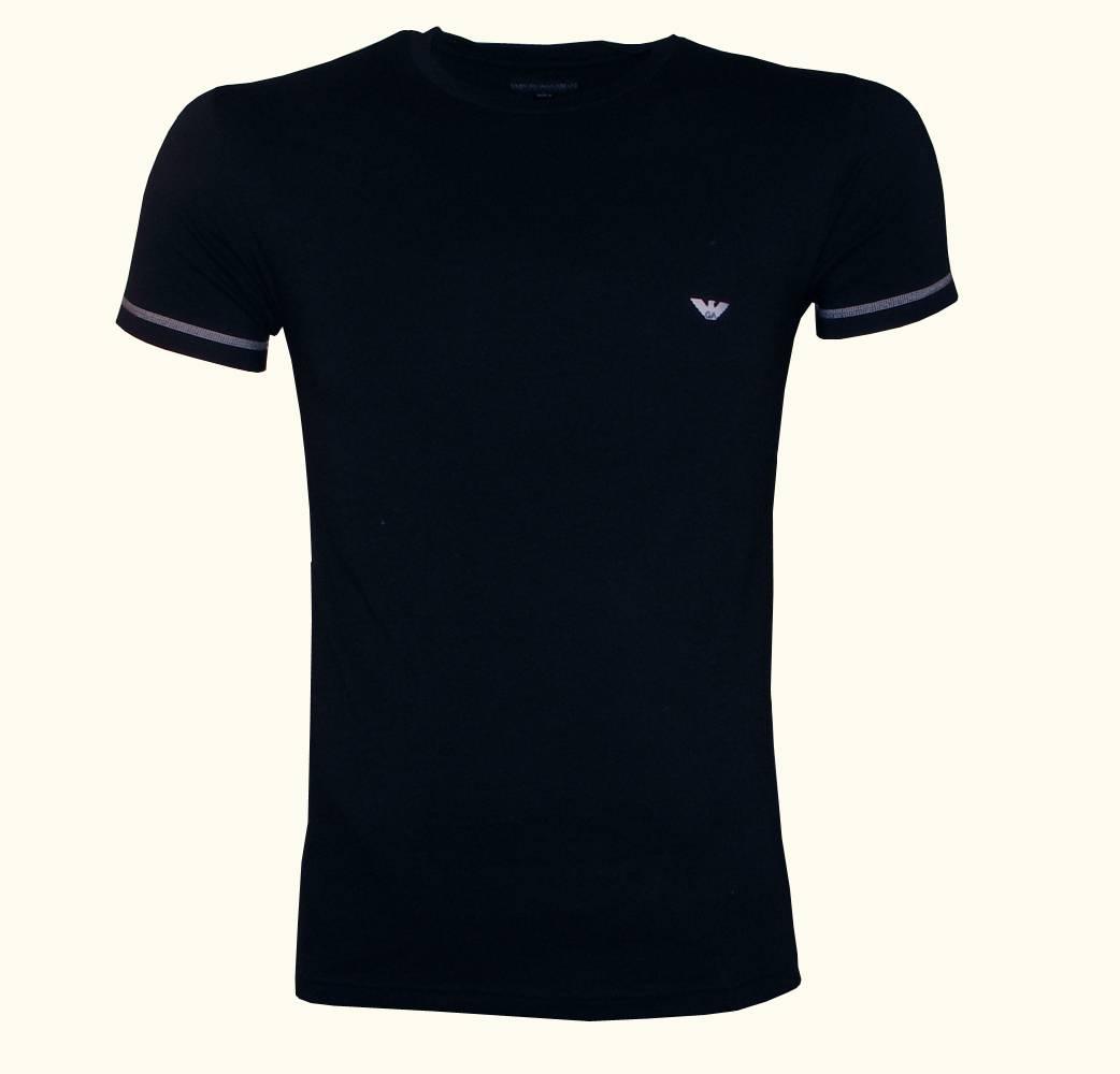 emporio armani underwear black crewneck t shirt t shirts. Black Bedroom Furniture Sets. Home Design Ideas