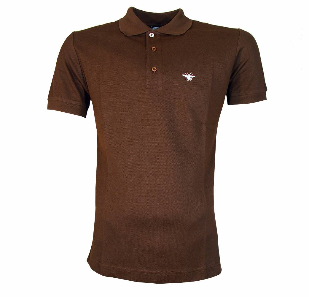 Dior brown polo shirt with contrast logo polo shirts for Polo shirts with logos