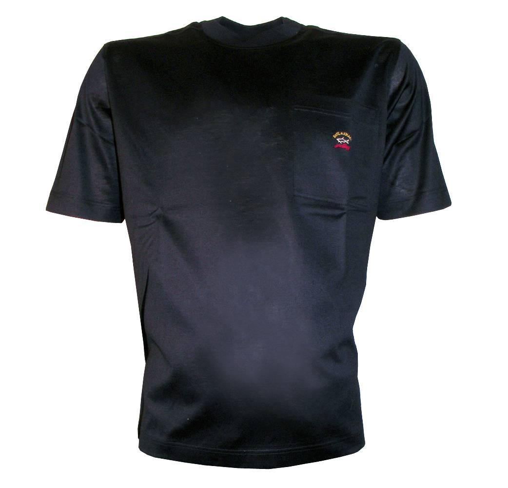 paul and shark navy crewneck t shirt with logo t shirts. Black Bedroom Furniture Sets. Home Design Ideas