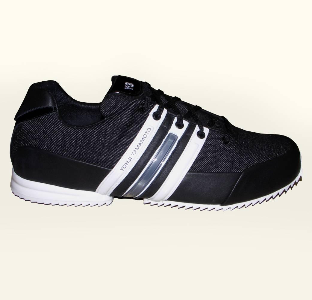Y3 Black Denim Canvas Sprint Trainers Footwear From