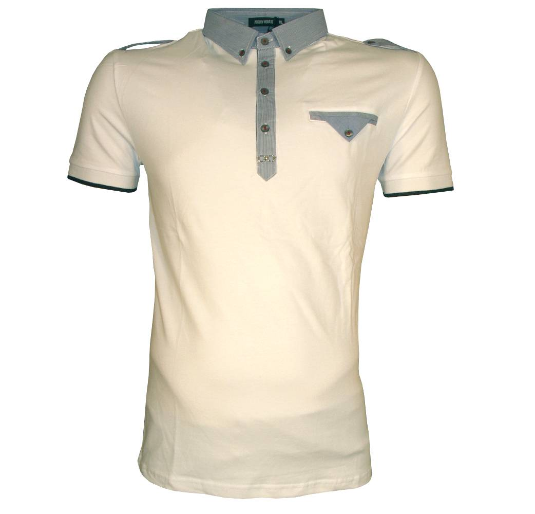 Antony morato white fitted polo shirt polo shirts from for White fitted polo shirts