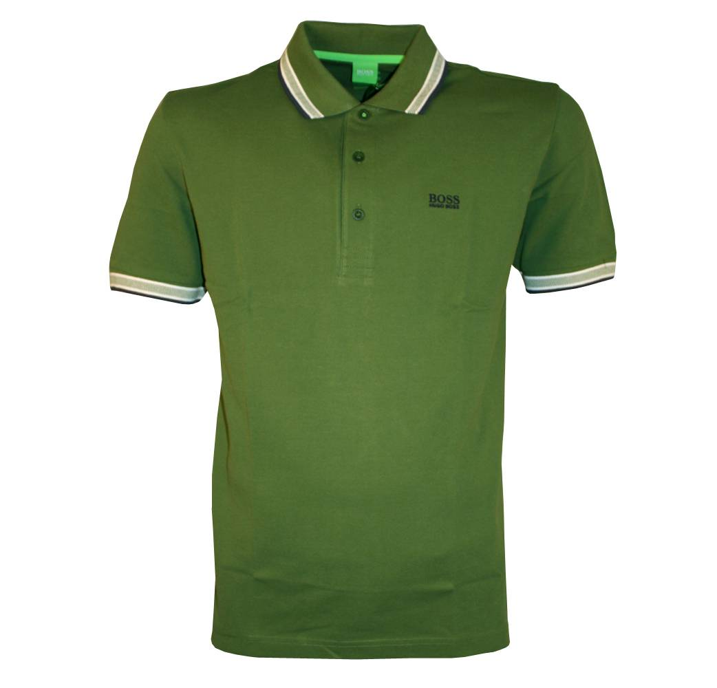 hugo boss green paddy polo shirt polo shirts from