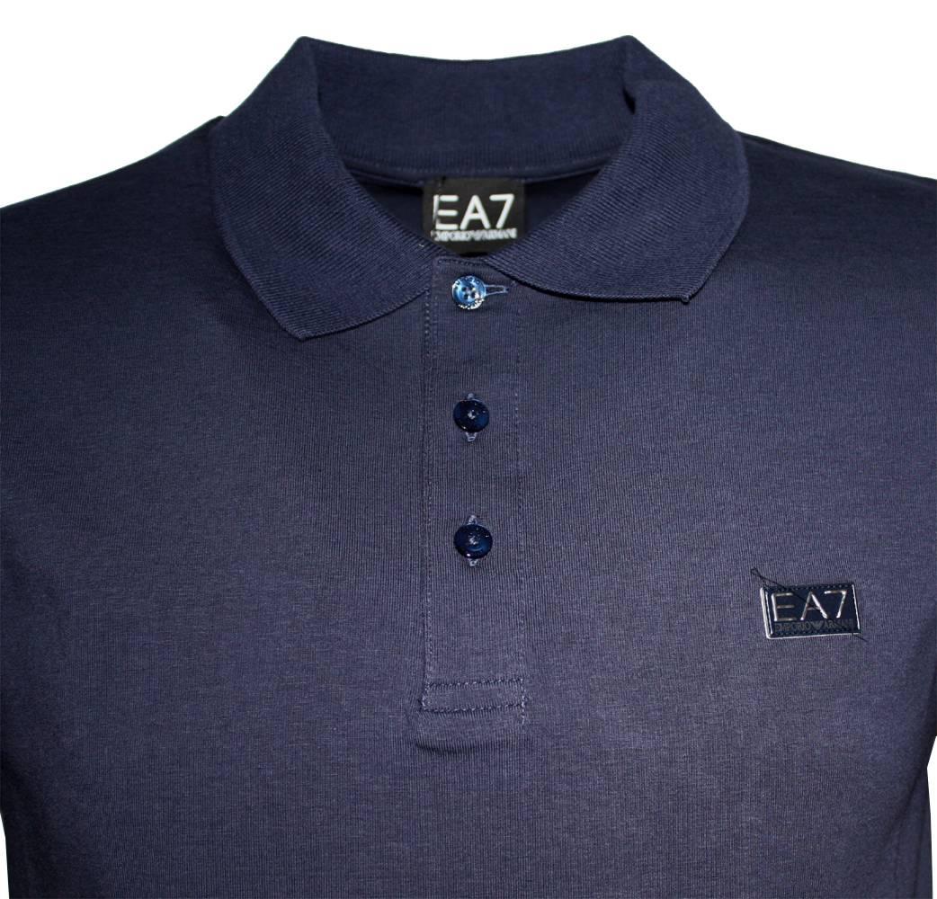 polo shirts emporio armani ea7 navy short sleeved polo shirt. Black Bedroom Furniture Sets. Home Design Ideas
