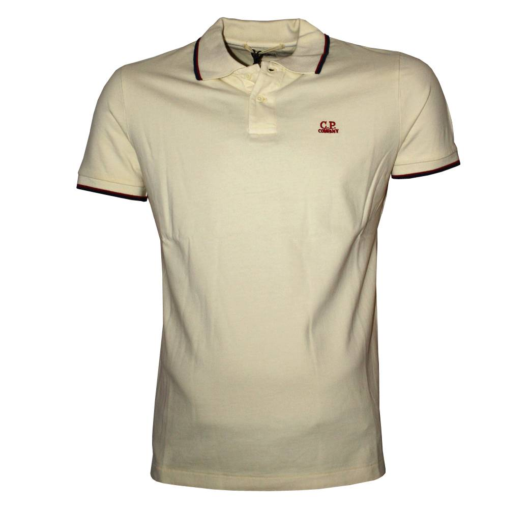 cp company cream polo shirt polo shirts from