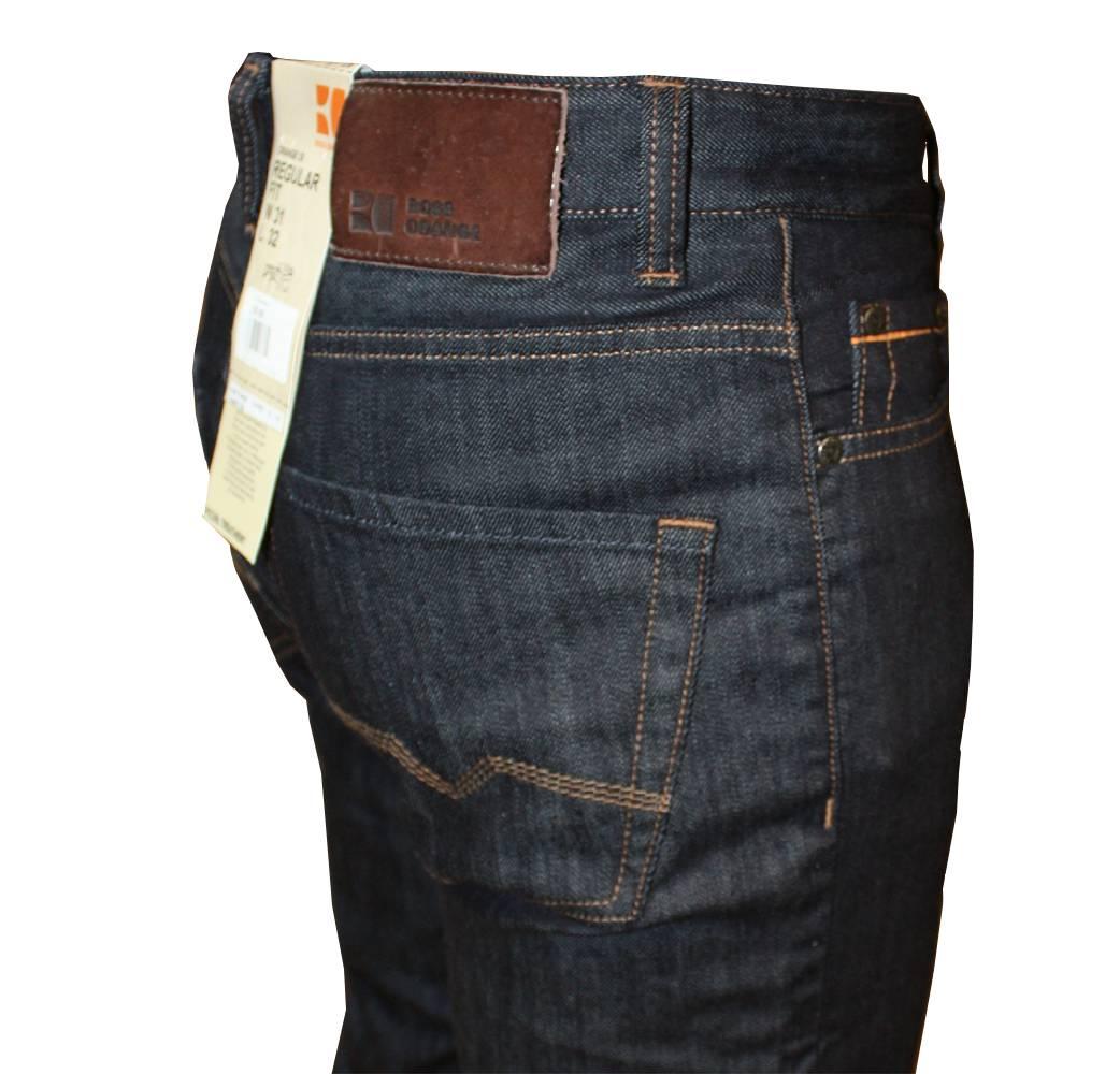 hugo boss orange 25 pure dark denim jeans jeans from designerwear2u uk. Black Bedroom Furniture Sets. Home Design Ideas
