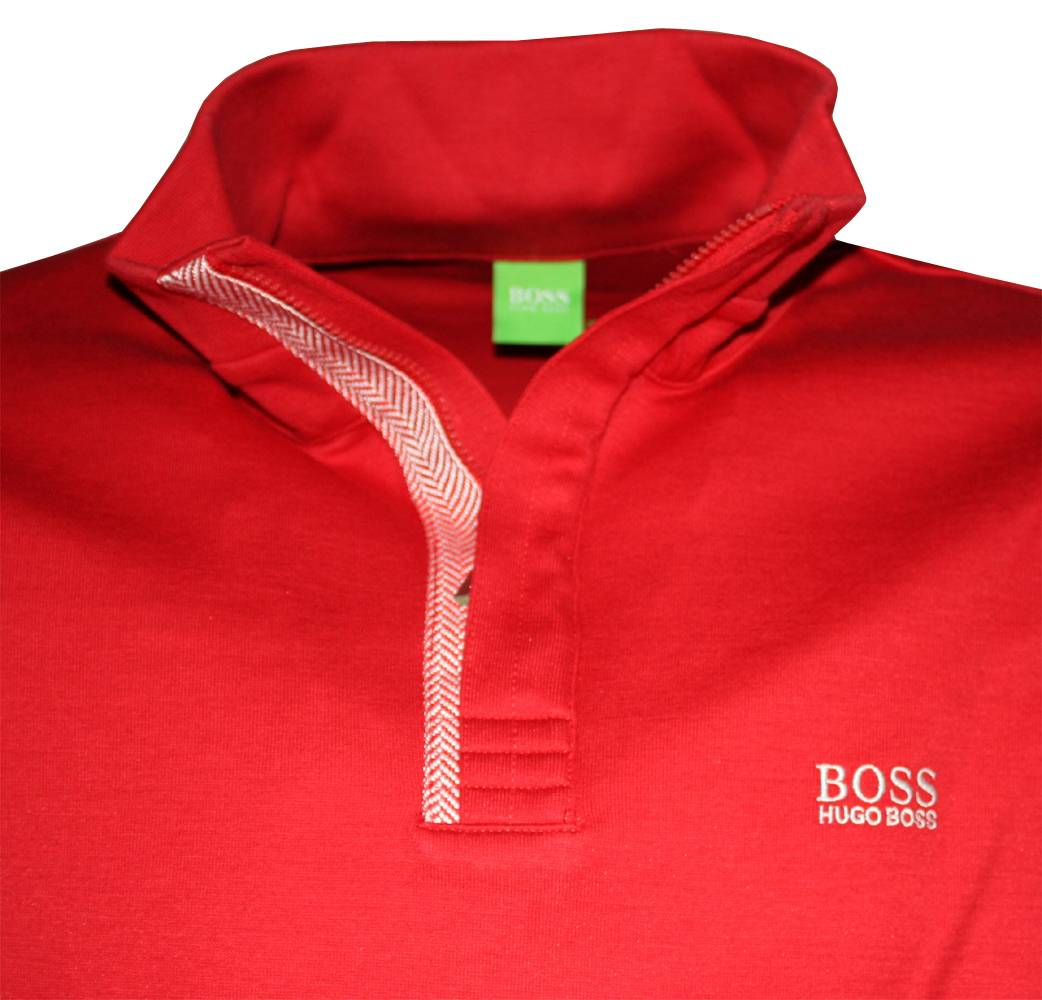 hugo boss green label red 1 4 zip sweatshirt sweatshirts from designerwear2u uk. Black Bedroom Furniture Sets. Home Design Ideas