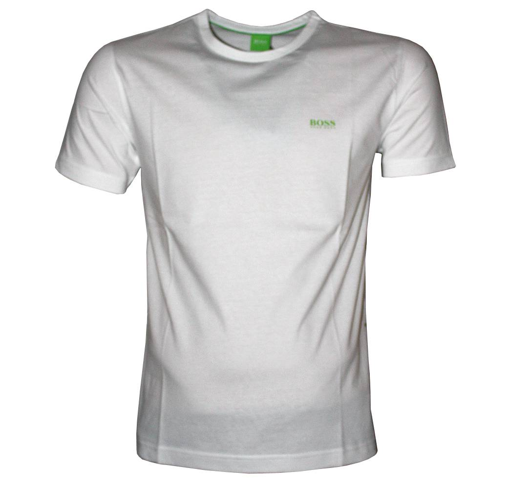 Hugo boss white tee crewneck t shirt t shirts from for Hugo boss t shirts online