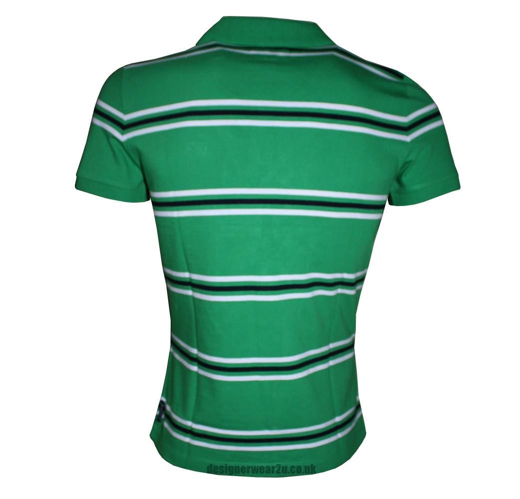 armani jeans green striped polo shirt polo shirts from