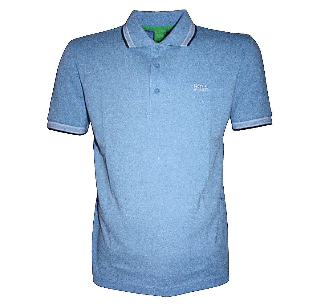 hugo boss sky blue paddy polo shirt polo shirts from. Black Bedroom Furniture Sets. Home Design Ideas