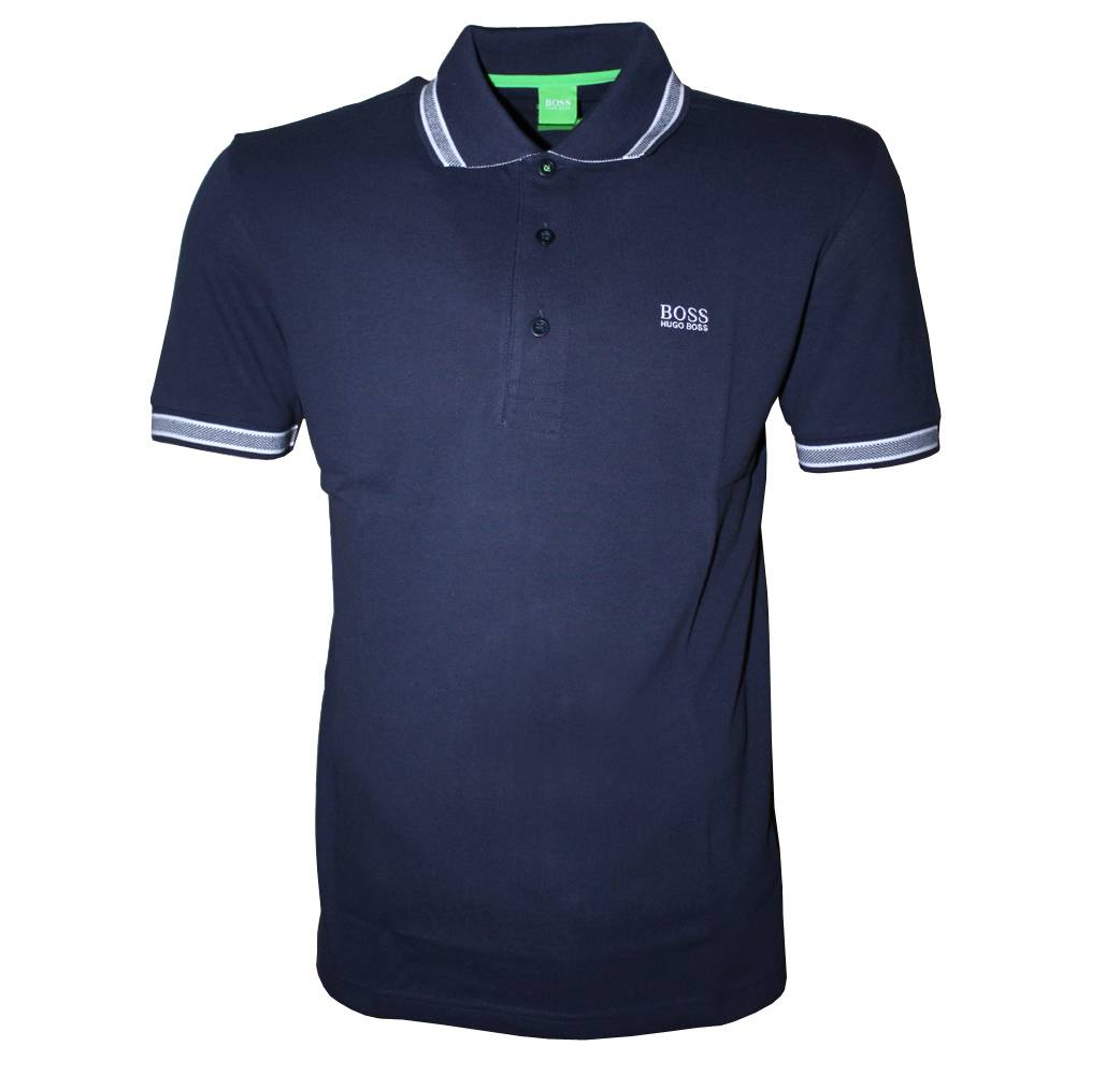 hugo boss navy paddy polo shirt polo shirts from. Black Bedroom Furniture Sets. Home Design Ideas