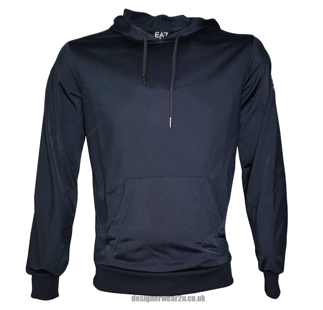 emporio armani ea7 navy pullover hooded top. Black Bedroom Furniture Sets. Home Design Ideas