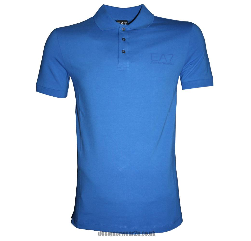 Emporio Armani Ea7 Royal Blue Polo Shirt Polo Shirts
